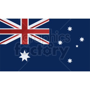 australia flag vector clipart. Royalty-free image # 409144