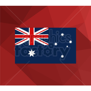 australia flag vector red background clipart. Royalty-free image # 409146