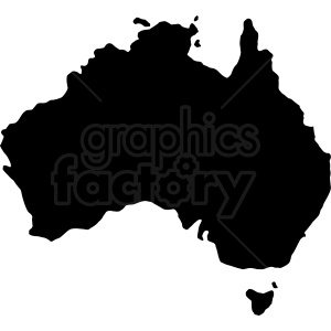 australia country shape clipart. Royalty-free image # 409149