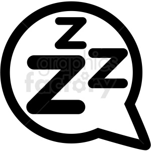 sleep bubble right icon clipart. Commercial use image # 409185
