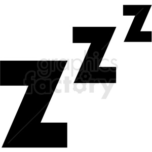 sleeping zzz vector clipart. Royalty-free image # 409187