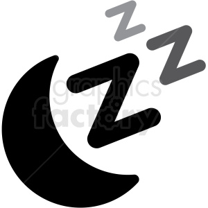 moon sleep stars icon vector clipart. Royalty-free image # 409195