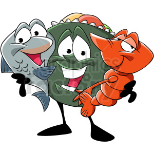 sea life cartoon friends clipart. Royalty-free image # 409288