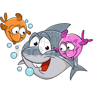 friends of the ocean cartoon clipart. Commercial use image # 409293