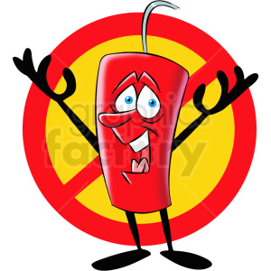 cartoon dynamite not allowed sign clipart. Royalty-free image # 409303