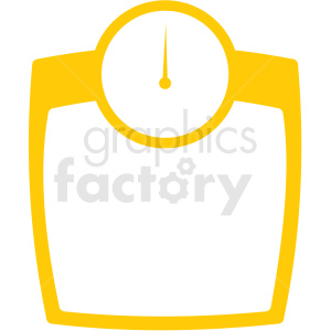 body scale yellow icon clipart. Commercial use image # 409351