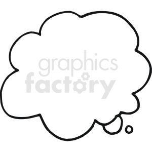 thought bubble typography vector art clipart. Commercial use image # 409359