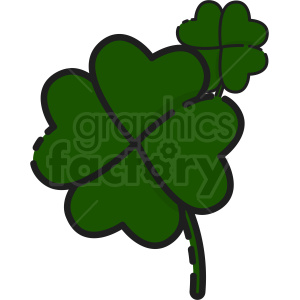 four leaf clover clipart clipart. Commercial use image # 409395