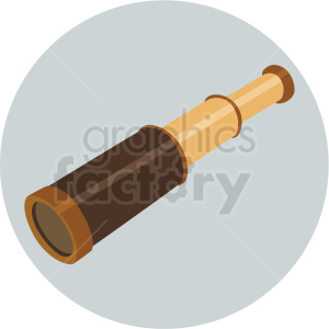 hand held telescope vector clipart on gray background clipart. Royalty-free image # 409406
