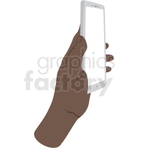 african american look at my phone vector clipart no background