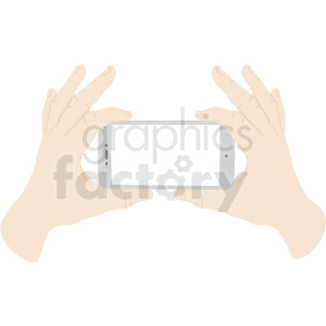 hands taking photo with phone vector clipart no background clipart. Royalty-free image # 409449