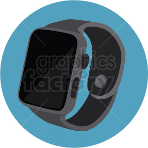 smart watch on blue background clipart. Commercial use image # 409488