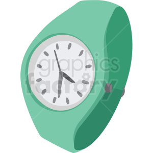 aqua wrist watch no background clipart. Royalty-free image # 409497