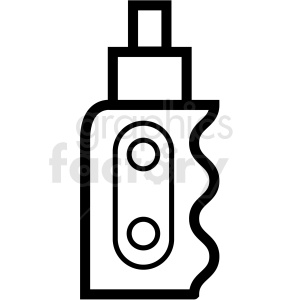 vape with mod vector icon clipart clipart. Commercial use image # 409584