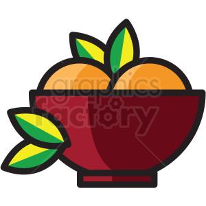 bowl of fruit vector icon clipart clipart. Royalty-free image # 409598