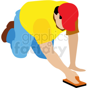 white man working on concrete vector clipart clipart. Commercial use image # 409647