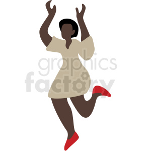 black woman dancing vector clipart clipart. Royalty-free image # 409648