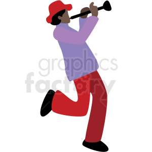 black man playing music vector clipart