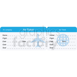 airplane travel tickets image clipart. Royalty-free image # 409697