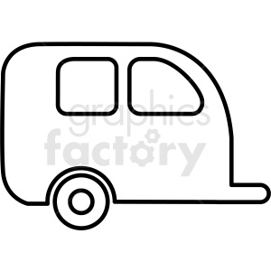 small camper trailer icon outline clipart. Commercial use image # 409707
