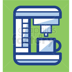 coffee maker vector icons clipart. Commercial use image # 409727