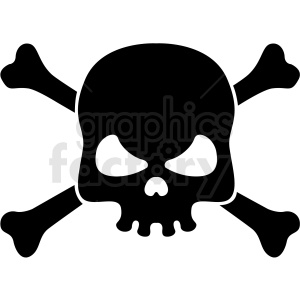 skull and bones vector clipart clipart. Commercial use image # 409738