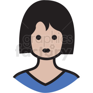 white housewife avatar vector clipart clipart. Royalty-free image # 409767