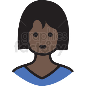 black housewife avatar vector clipart clipart. Royalty-free image # 409782