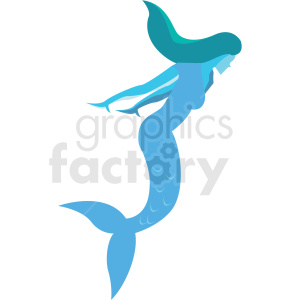 mermaid game character vector icon clipart clipart. Royalty-free image # 409863