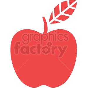 apple with leaf icon art