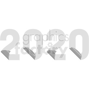 peeling 2020 new year clipart clipart. Commercial use image # 410028