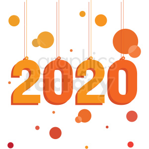 orange 2020 new year clipart no background clipart. Commercial use image # 410038