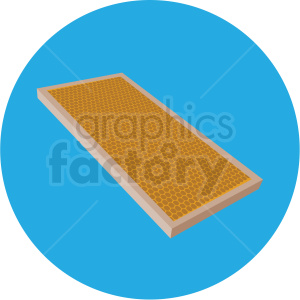 beehive honey rack vector clipart blue background clipart. Commercial use image # 410064
