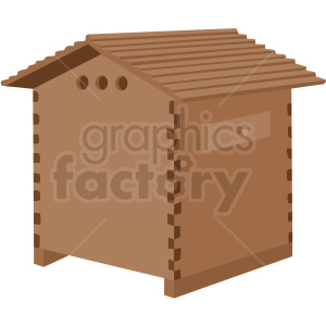 beehive house vector no background