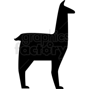 llama silhouette vector clipart. Royalty-free icon # 410149