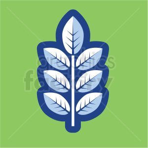 branch vector icon on green background clipart. Royalty-free image # 410153