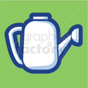 watering container vector icon on green background