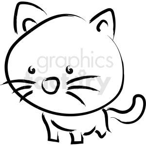 cartoon cat drawing vector icon clipart. Royalty-free image # 410226