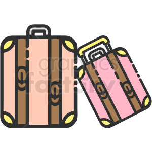 suitcase vector clipart clipart. Royalty-free image # 410267