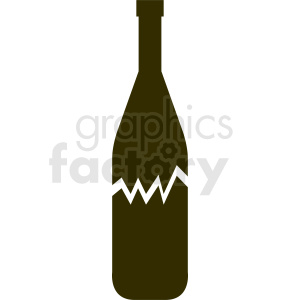 broken bottle silhouette