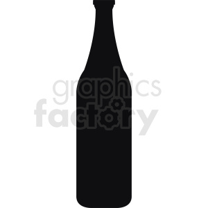 large bottle silhouette clipart clipart. Royalty-free image # 410298