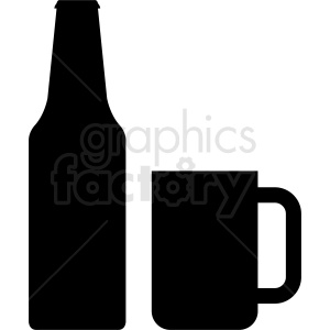 bottle and cup silhouette clipart clipart. Royalty-free image # 410315