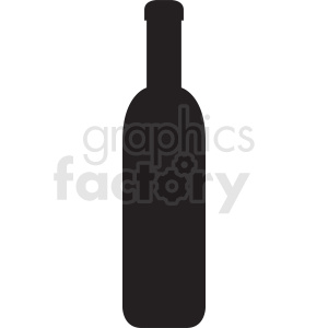 silhouette of wine bottle no background
