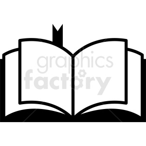 vector book with bookmark clipart. Royalty-free image # 410360