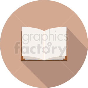 vector book icon on circle background