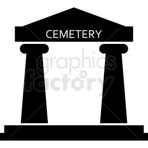 cemetery building design clipart. Royalty-free image # 410425