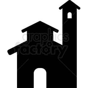 religious church silhouette vector clipart. Royalty-free image # 410450