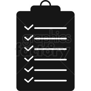 to do list vector icon clipart. Royalty-free icon # 410467