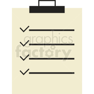 list vector clipart clipart. Royalty-free image # 410468