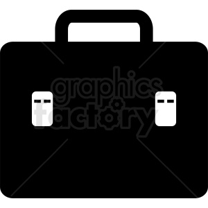 vector briefcase black white clipart. Royalty-free image # 410510